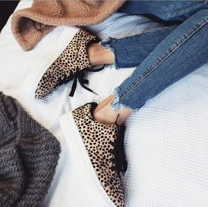 Shoes - 🆕️//The Brandy//leopard lace up sneaker